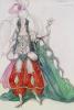 Costume Design For Scheherazade: Zobeide (Jane Marnac) by Leon Bakst