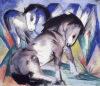 Two Horses, 1913 by Franz Marc