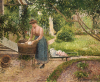 Washerwoman At Eragny, 1889 by Camille Pissarro
