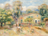 Collettes Farmhouse, Cagnes, 1910 by Pierre Auguste Renoir