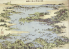 Map Of Shiogama and Matsushima In Oshu by Katsushika Hokusai
