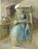 Woman Sewing. Femme Cousant by Camille Pissarro