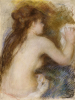 Nude Back Of A Woman, Circa1879 by Pierre Auguste Renoir
