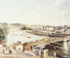 Afternoon Sun, Rouen, 1896 by Camille Pissarro