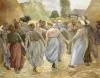The Circle, Circa 1884 by Camille Pissarro