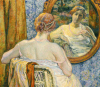 Woman In A Mirror, 1907 by Theodore van Rysselberghe