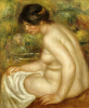 Side View Of A Seated Bather (Gabrielle) by Pierre Auguste Renoir