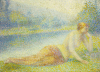 Reclining Nude by Hippolyte Petitjean