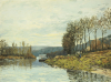 The Seine At Bougival, 1873 by Alfred Sisley