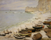 Boat On The Beach At Etretat, 1883 by Claude Monet