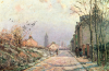 The Road, Effect Of Winter, 1872 by Camille Pissarro
