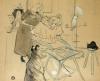 Le Motographe (Melle. Margouin), 1899 by Henri de Toulouse-Lautrec