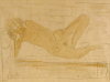 Reclining Female Nude by Otto Muller