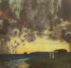 Sunset By The Sea by Franz Von Stuck