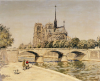 Notre Dame And The Seine by Jean Francois Raffaelli
