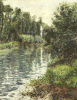 A Small Branch Of The Seine, Argenteuil by Gustave Caillebotte