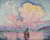Pink Clouds, Antibes, 1919 by Paul Signac