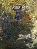 Camille And Jean In The Garden At Argenteuil by Claude Monet