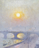 Sunset Over Waterloo Bridge, 1916 by Emile Claus