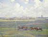 The Racecourse At Boulogne-Sur-Mer, 1900 by Theodore van Rysselberghe
