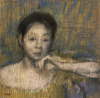 Bust Of a Woman With Her Left Hand On Her Chin, Circa 1895 by Edgar Degas