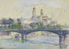 The Seine In front Of The Trocadero by Henri-Edmond Cross