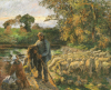 A Shepherd At Montfoucault, Sunset, 1876 by Camille Pissarro