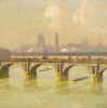 Waterloo Bridge And Hungerford Bridge With The Houses Of Parliament Beyond, 1916 by Emile Claus