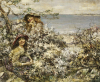 Two Girls Among Blossom, Brighouse Bay, 1915 by Edward Atkinson Hornel