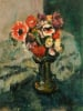 Anemones And Other Flowers In A Vase by Leslie Hunter