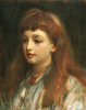 Portrait Of A Young Girl, Head And Shoulders by Lord Frederic Leighton