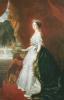A Full Length Portrait Of Empress Eugenie (1826-1920) by Franz Xavier Winterhalter