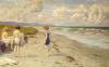 Girls Preparing To Bathe On A Beach by Paul Gustav Fischer