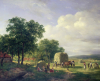 A Wooded Landscape With Haymakers, 1822 by H.G. van de Sande Bakhuyzen