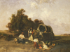 A Gypsy Encampment, 1895 by Pal Bohm