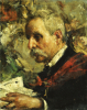 A Portrait Of The Artist's Father by Antonio Mancini