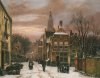 A Wintery Scene: A Dutch Street With Numerous Figures by Willem Koekkoek