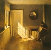 A Girl Reading In An Interior by Peter Vilhelm Ilsted