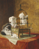 Caged Kittens by Henriette Ronner-Knip