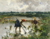Women At Work In Rice Fields, 1895 by Pompeo Mariani