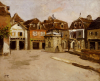 A Town Square by Fritz Thaulow