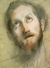 Study For The Head Of Christ by Federico Barocci