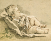 A Sleeping Baby by Francois Boucher