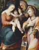 The Holy Family With Saint Catherine by Pellegrino Tibaldi