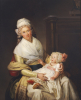 Portrait Of Constantia Foster Holding Her Nephew On Her Lap by Henri Pierre Danloux