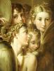 Five Angels. After Francesco Mazzola by Parmigianino Francesco Mazzola