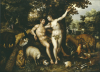 Eve Tempting Adam, The Creation Of Eve And The Expulsion From Paradise Beyond by Hendrik de Clerck
