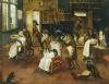 A Singerie: Monkey Barbers Serving Cats by Jan van Kessel