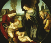 The Holy Family With The Infant Saint John The Baptist And An Angel by Christie's Images