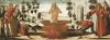 Saint John The Evangelist In A Vat Of Boiling Oil: A Predella Panel by Benvenuto di Giovanni